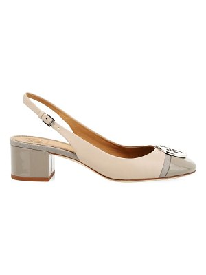 Tory Burch minnie colorblock leather slingback pumps
