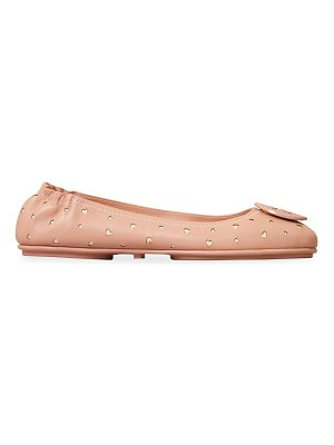 Tory Burch minnie perforated leather ballet flats
