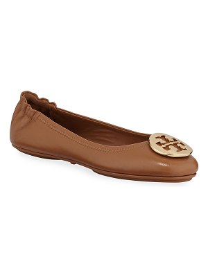 Tory Burch Minnie Travel Leather Ballet Flats
