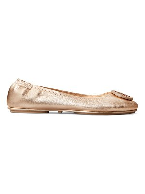 Tory Burch minnie metallic leather ballet flats