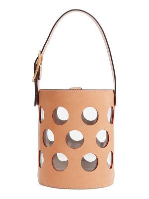 TORY BURCH Perforated Leather Bucket Bag