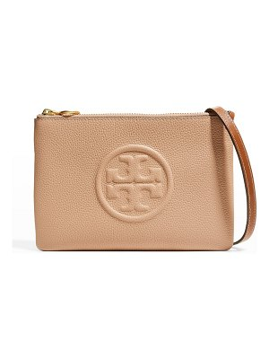 Tory Burch Perry Bombe Double-Zip Pouch Crossbody Bag