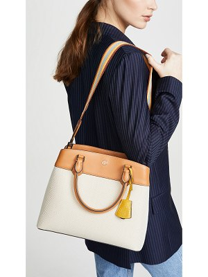 Tory Burch robinson canvas triple compartment tote