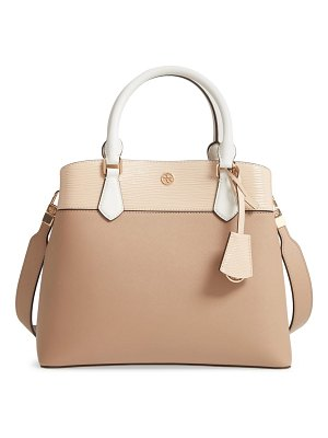 Tory Burch robinson colorblock leather triple compartment bag