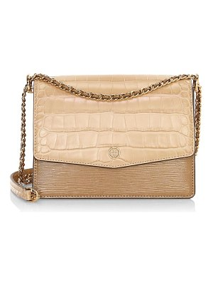 Tory Burch robinson crocodile-embossed leather shoulder bag