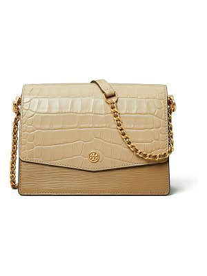 Tory Burch Robinson Embossed Colorblock Shoulder Bag