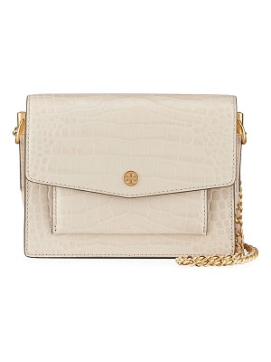 Tory Burch Robinson Embossed Double-Strap Convertible Shoulder Bag