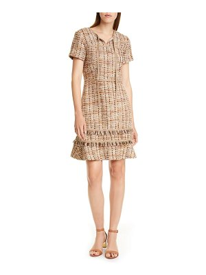 Tory Burch tie neck tweed dress