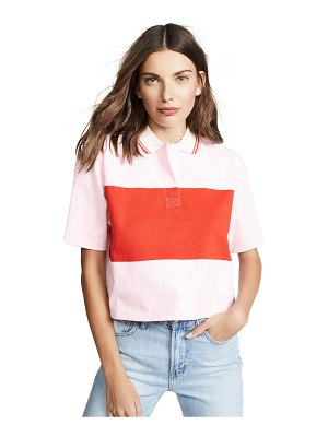 Tory Sport cropped collared t-shirt