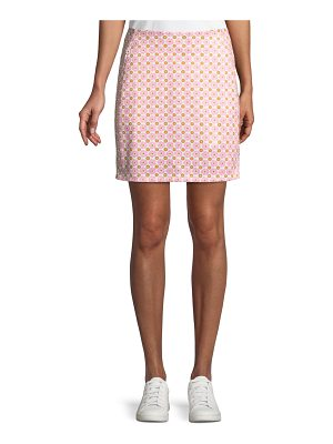Tory Sport Printed A-Line Golf Skirt
