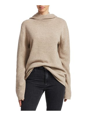 Toteme ellera merino wool & cashmere hooded turtleneck