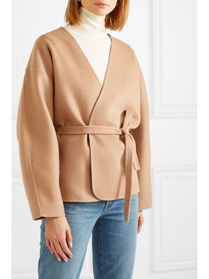 Totême lunel wool and cashmere-blend wrap jacket