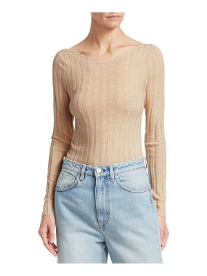 Toteme toury portrait neckline rib-knit top