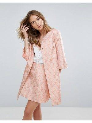 Traffic People jacquard coat