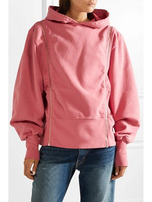TRE by Natalie Ratabesi zip-embellished cotton-jersey hoodie
