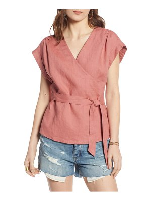 Treasure & Bond linen wrap top