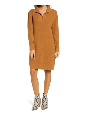 Treasure & Bond long sleeve mock neck sweater dress