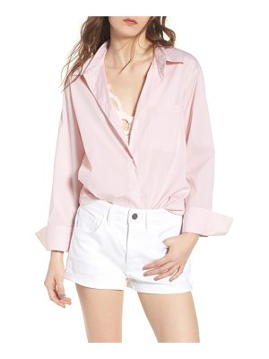 Treasure & Bond loose sleeve poplin tunic shirt