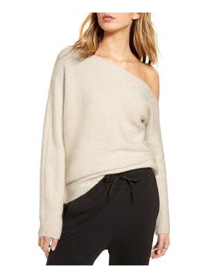 Treasure & Bond one-shoulder ribbed sweater