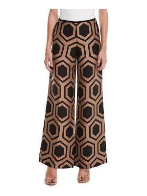 Trina Turk Kern 2 Wide-Leg Pants in Geometric Print