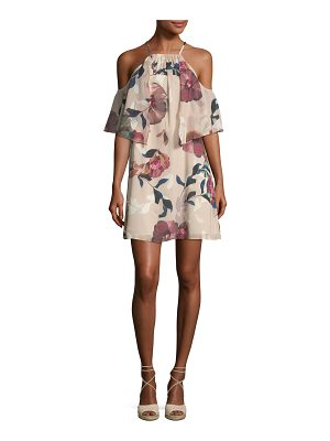 Trina Turk Seraphima Cold-Shoulder Floral-Print Shift Dress