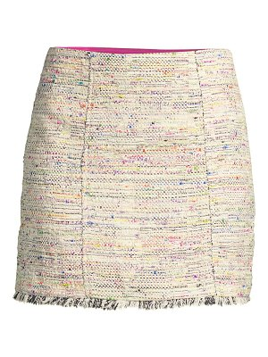 Trina Turk tweed rico fringe skirt