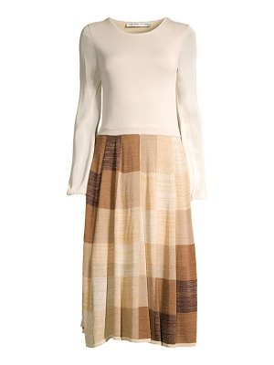 Trina Turk wine country cork geometric-print midi dress
