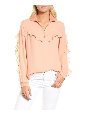 TROUVE Ruffle Track Top