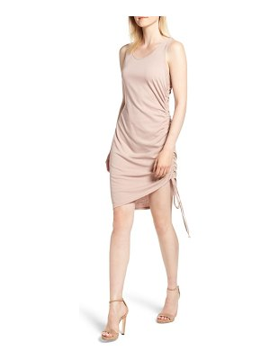 Trouve side shirred body-con dress