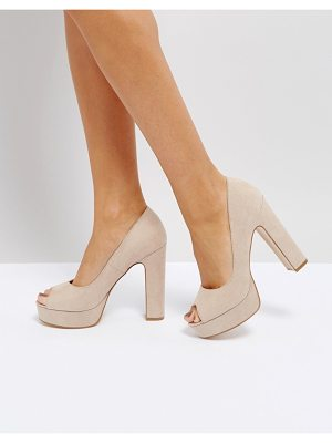 TRUFFLE COLLECTION Peep Toe Platform Shoe