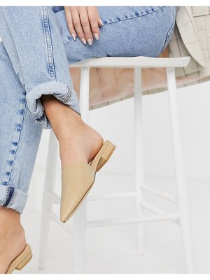 Truffle Collection pointed mules in beige-neutral
