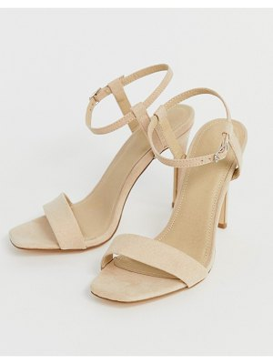Truffle Collection stiletto barely there square toe heeled sandals