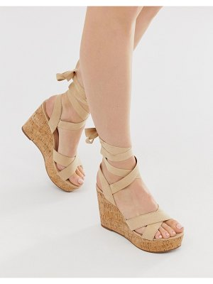 Truffle Collection tie leg wedges