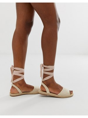 Truffle Collection tie leg espadrille flat sandals