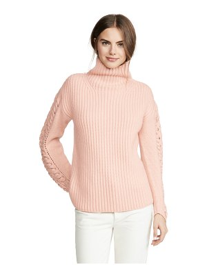 TSE Cashmere cashmere turtleneck with braided cording