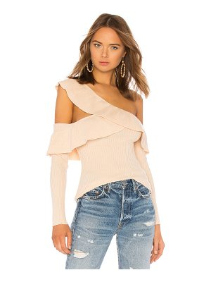 Tularosa Ruffle Cut Out Sweater