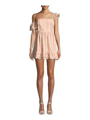 Tularosa Sophia Eyelet Ruffle Mini Dress