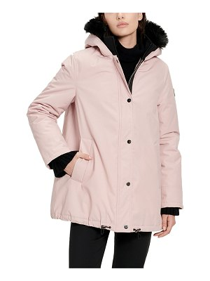 Ugg Bernice Parka Coat w/ Faux-Fur Trim