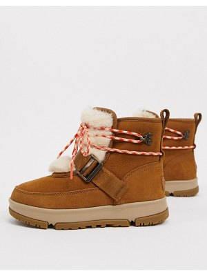 Ugg classic weather hiker boots in chestnut-tan