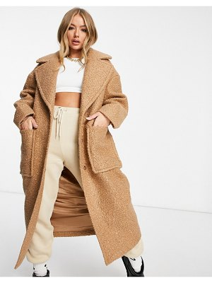 Ugg hattie long oversized coat in camel-neutral
