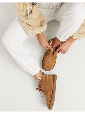 Ugg neumel lace up ankle boots in chestnut-brown