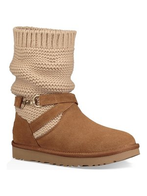 Ugg pure(tm) strappy purl knit bootie