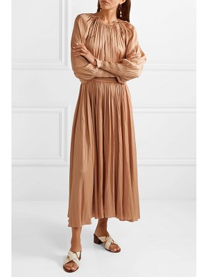Ulla Johnson adonia smocked smocked sateen maxi dress