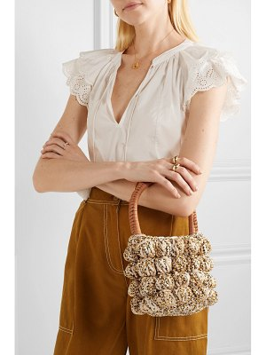 Ulla Johnson agathe leather-trimmed crocheted tote