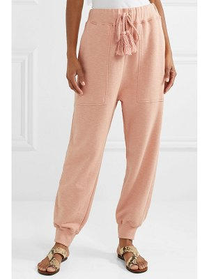 Ulla Johnson charley tasseled cotton-terry track pants
