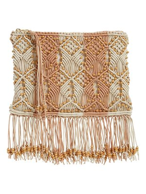 Ulla Johnson evy beaded woven clutch
