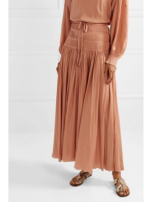 Ulla Johnson isidore smocked sateen maxi skirt