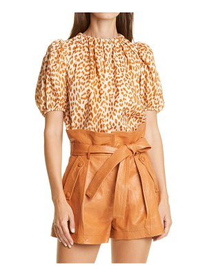 Ulla Johnson isolda animal spot silk blouse