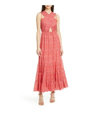 Ulla Johnson karima metallic cutout maxi dress