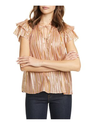 Ulla Johnson kosta metallic stripe silk blend top